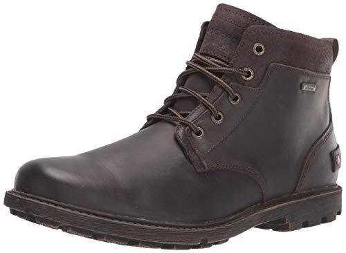 Rockport Men's Rugged Bucks II Chukka, Dark Brown Leather/Suede, 8.5 W US