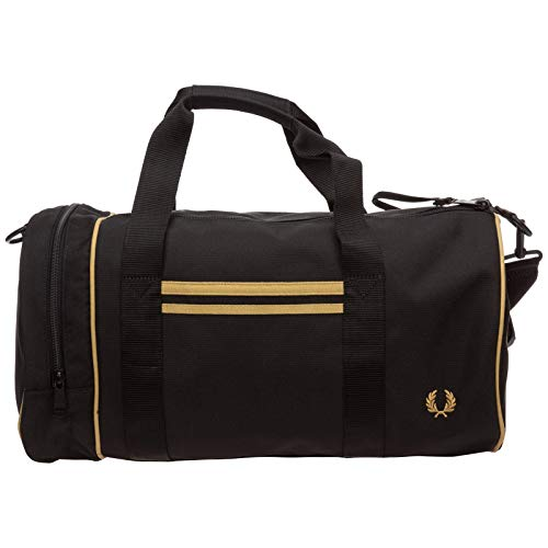 Fred Perry TWIN TIPPED BARREL BAG Sporttaschen hommes Schwarz/Goldfarben - Einheitsgrösse - Sporttaschen