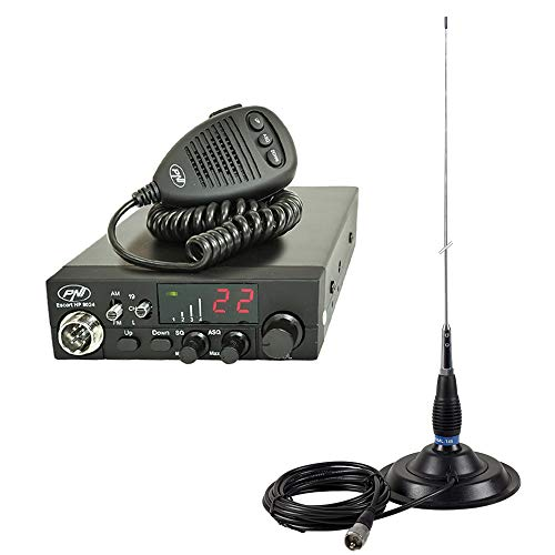 PNI PACK58 Kit CB Radio ESCORT HP 8024 ASQ + CB ML145 antenne met magneet 145 / PL zwart