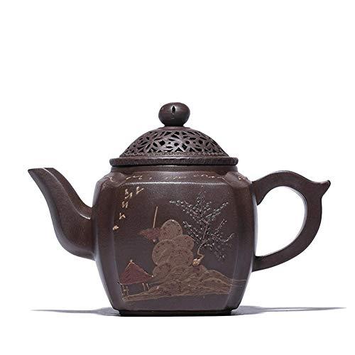 KEKEYANG Kaffee Wang Reflux Erz Yixing lila Ton-Topf Imitation Old handgemachte Four Fang Qingquan Republic of Tea Geschenk-Set Tee