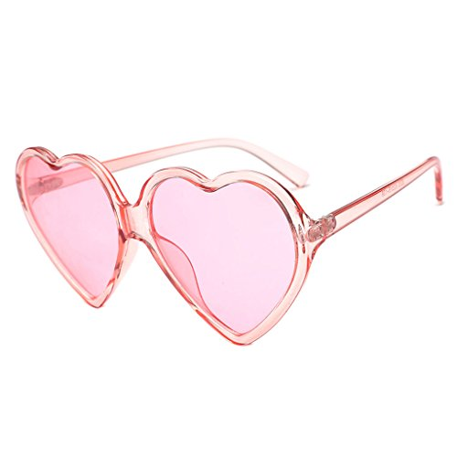 YaLuoUK - Gafas de sol con marco en forma de corazón para mujer, diseño de gafas de conducción UV400, color rosa, rojo, leopardo, negro, morado, amarillo, 6 colores para que elijas