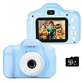 le-idea Cámara para niños Cámara de Fotos Digital 2 Objetivos Selfie 12MP...