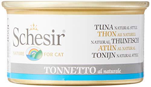 Schesir Thon Naturel pour Chats, 85 g