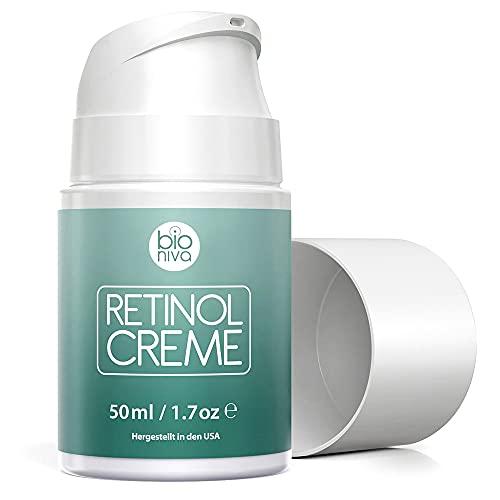 Retinol Lift Creme Testsieger 2019-2.5% Retinol Liposomen Liefersystem mit Vitamin C + B & Botanische Hyaluronsäure. Natürliche Anti Aging Retinol Feuchtigkeitscreme von...
