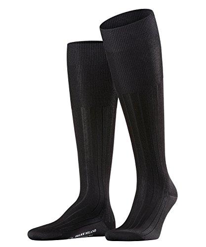 FALKE Herren Milano M KH Socken, Blickdicht, Schwarz (Black 3000), 43-44 (UK 8.5-9.5 Ι US 9.5-10.5)