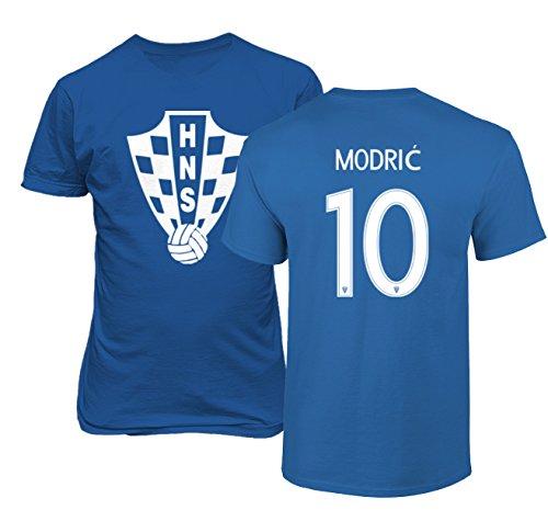Tcamp Croatia 2018 National Soccer #10 Luka Modric World Championship Men's T-Shirt (Royal, Adult Large)