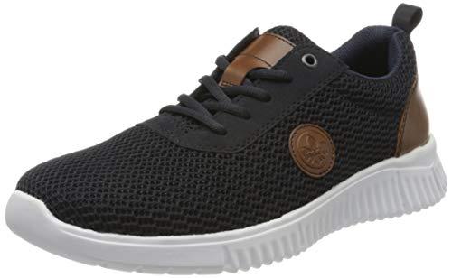 Rieker Herren Frühjahr/Sommer B7510 Sneaker, Blau (Navy/Pazifik/Amaretto/ 14 14), 42 EU