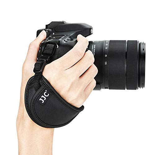 Correa de Mano de Piel de Microfibra para cámara réflex Digital Nikon D850, D810, D750, D7500, Z7, Z6, Canon, 90D, 760D, 800D, 80D, 77D, Olympus, Sony, Fujifilm