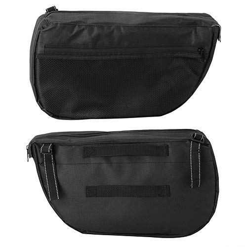 Bolsa de almacenamiento de carro negro, con bolsas de malla de tela Oxford 600D 41x15x25cm Organizador de cochecitos para bebé