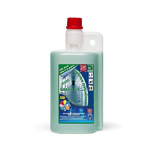 UNIPAV MUGHETTO 5C - reiniger wasverzachter deodorant MUGHETTO 5 keer concentraat - 1 liter fles met doseerdeksel