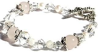 Freyja Fertility and Pregnancy Bracelet Featuring Natural Gemstones Rose Quartz, Moonstone, holistic healing jewelry