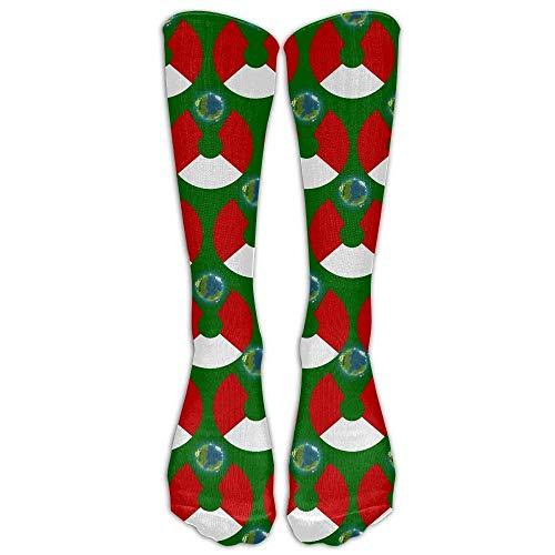 Unisex USA Peru Flag Pattern Knee High Compression Thigh High Socks Soccer Tube Sock