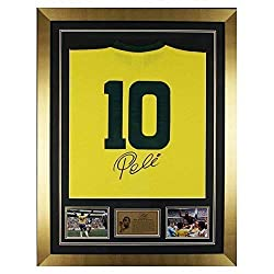 Hand Signed Pele Brazil Framed Shirt Jersey With Photo Proof & COA