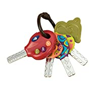 Baby you can drive My car: a realistic set of toy keys with sounds and a flashlight. Keys that swing freely. Beep! Beep! 3 fun car sounds, Designed to go easy on grown-up ears. Buttons are easy to push. Toy flashlight: a push-button flashlight might ...