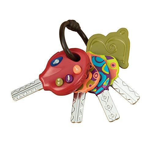 B. toys - 4 llaves de juguete texturadas para bebés y niños (importado de Inglaterra) , color/modelo surtido