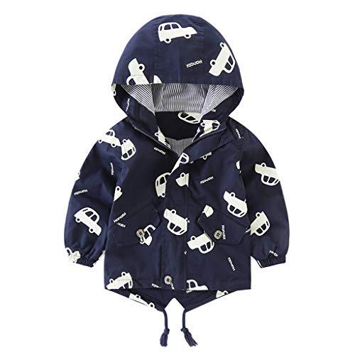 HDUFGJ Baby Kinder Jungen Mädchen WinterjackeWinter Mantel aus Baumwolle Jacket Jacke Lange Ärmel Cartoon Sweatshirt Pullover Sweater