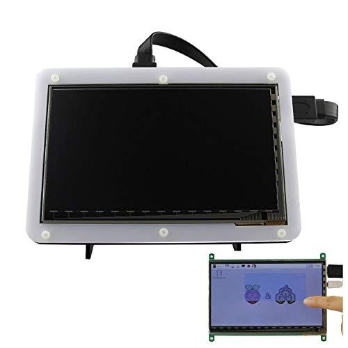 weichuang Accesorios electrónicos de 7 pulgadas 800x480 TFT LCD HD de pantalla táctil capacitiva con soporte de acrílico para RPi 3B/2B/B/B+ accesorios electrónicos accesorios electrónicos
