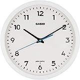 CASIO(カシオ) 掛け時計 電波 ホワイト 直径31.1cm アナログ 夜間秒針停止 掛け具セット