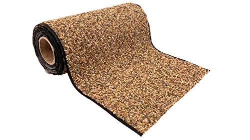 Wacredo Premium Teich Steinfolie 1m x 0,6m | Wasserdurchlässige Steinfolie für Teich und Teichrand | Sehr witterungsbeständig | Hohe UV- Stabilisierung | Kiesfolie