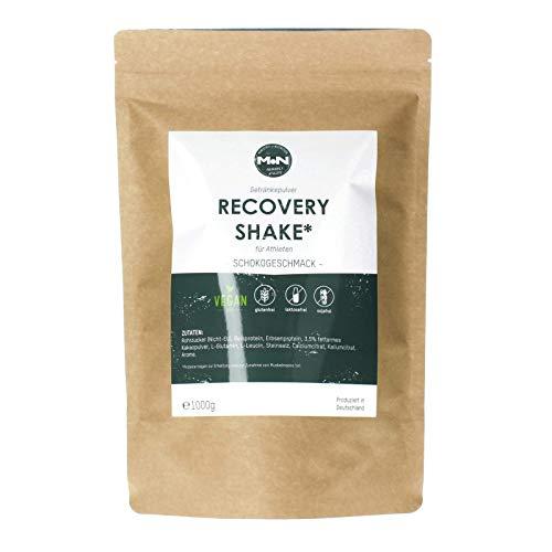 Ministry of Nutrition RECOVERY SHAKE - Para la regeneración después del ejercicio intenso - Con valiosas proteínas y aminoácidos - 100% vegano - 1000 gramos, probado en laboratorio