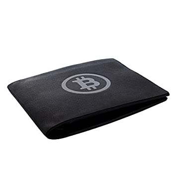 Bitcoin Wallet  Black/White  Black Billfold with Logo – Novelty Cryptocurrency Gifts Crypto Gear & Cool Accessories for Investors Miners Traders & Hodlers