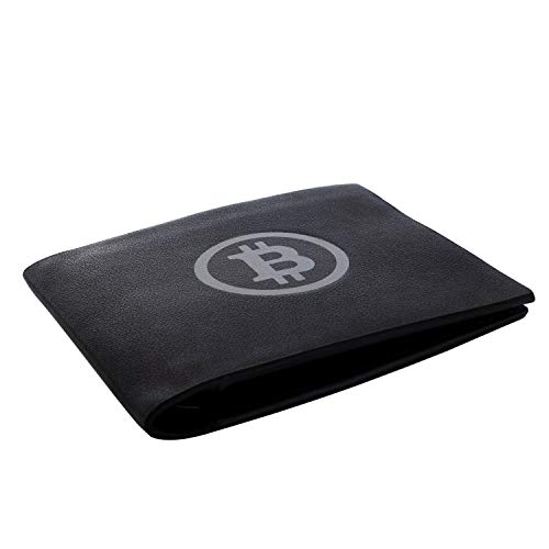Bitcoin Wallet (Black/White), Black Billfold with Logo – Novelty Cryptocurrency Gifts, Crypto Gear & Cool Accessories for Investors, Miners, Traders & Hodlers
