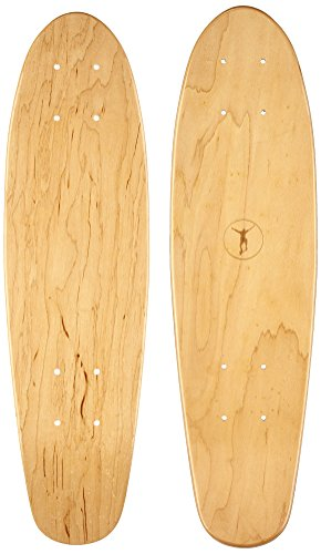 Ridge Skateboards-Regal Series Premium Canadian Maple Laser Cut Mini Cruiser Deck 22 x 6, Braun, 22 Zoll