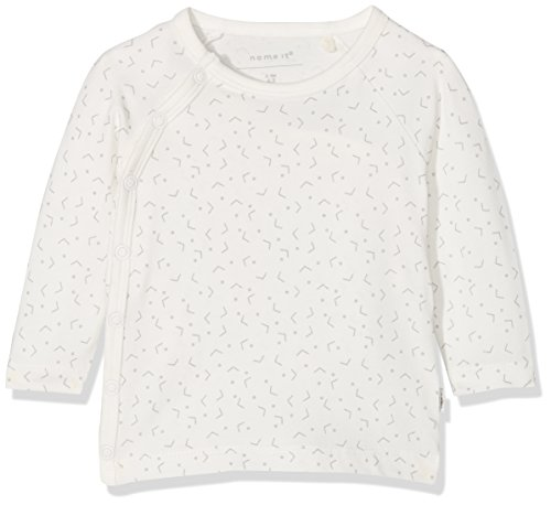 NAME IT Unisex Baby NBNDELUCIOUS LS WRAP TOP NOOS T-Shirt, Weiß (Snow White), 56