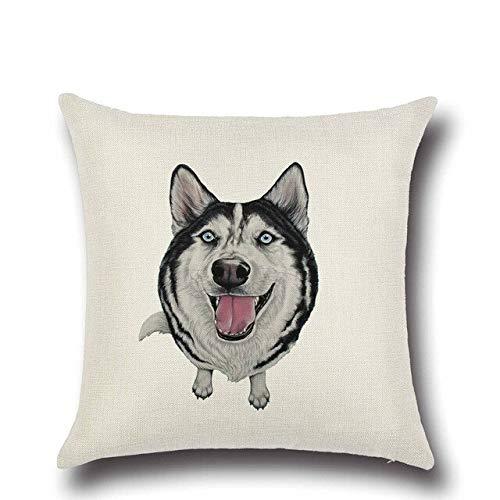 Creatieve Leuke Bighead Hond Kussensloop Afdrukken Sierkussen Case Kussenhoes Sofa Woondecoratie Kussensloop 45X45Cm D