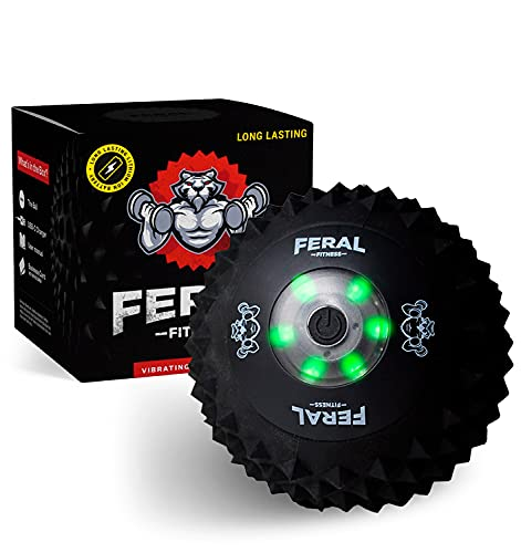 3-Speed Vibrating Massage Ball - Deep Tissue and Muscle Relief for Back, Shoulder, Arm, Leg, Feet - Rechargeable Trigger Point Massager for Tension Therapy, Myofascial Release, Pain and Exercise.