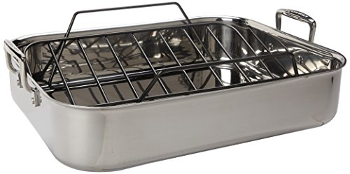 Le Creuset SSC8512-40P Stainless Steel Roasting Pan With Nonstick Rack, 17 x 13.75-Inch