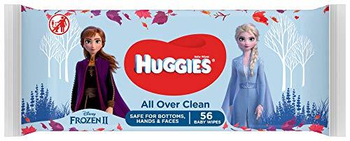 Huggies, Lingettes bébé, Pour les fesses, le visage et les mains, Avec motifs Disney, 10x56...