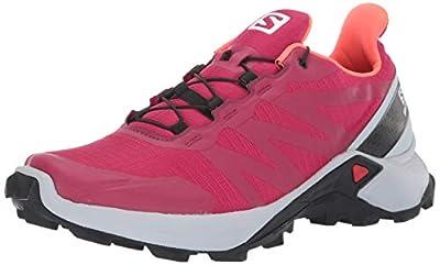 Salomon Women's Supercross Trail Running Shoes, Cerise./Pearl Blue/Fiery Coral, 9