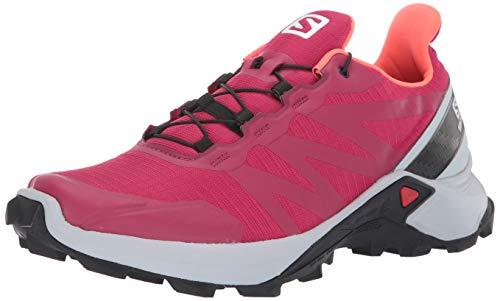 Salomon Women's Supercross Trail Running Shoes, Cerise./Pearl Blue/Fiery Coral, 8