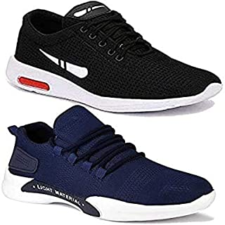 WORLD WEAR FOOTWEAR Men's Multicolor Combo Pack of 2 Casual Sports Running Shoes (9096-1200)