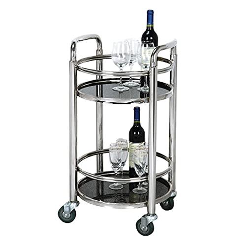 Barra de cocina móvil, carrito de vino, carrito de té, estante de almacenamiento, hogar, restaurante, carrito de la isla, vidrio templado de metal