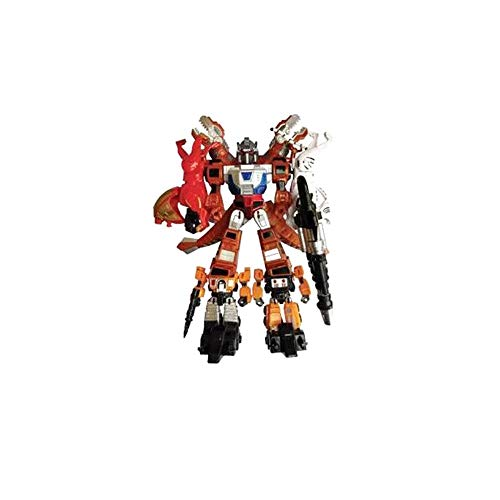 Jetta King Juguetes de Transformers, Robot de Coches avispón Optimus Prime Dinosaurio Cinco Piezas Muchacho de los niños (Color : A)