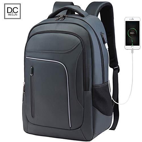 De nieuwe outdoor-heren-business-rugzak computer rugzak schooltas reistas, grijs (grijs) - 5315345517041