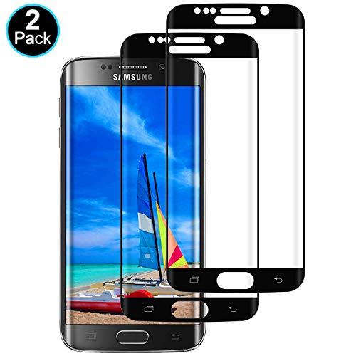 DOSMUNG [2 Stück Panzerglas kompatibel mit Samsung Galaxy S6 Edge, Schutzfolie für Galaxy S6 Edge - Anti-Kratzer, Anti-Öl, Anti-Bläschen HD Displayschutzfolie
