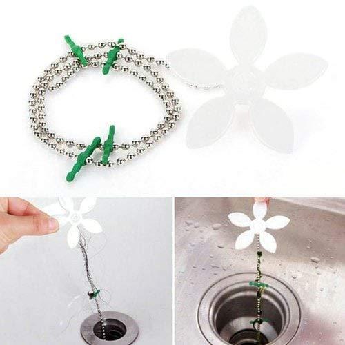Sevenshop Bad Dredge Cleaner Hair Drainer Kleine Blume Anti-Blocking Ohne Wasserpfeife Styling Device - Weis 3St