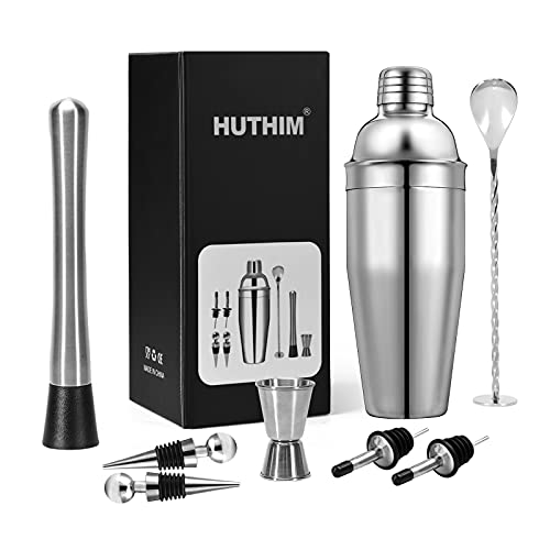 HUTHIM Shaker Cocktail, Professionnel Bar Bartender Shaker...