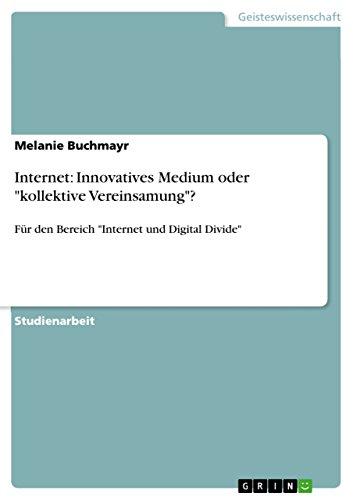Internet: Innovatives Medium oder