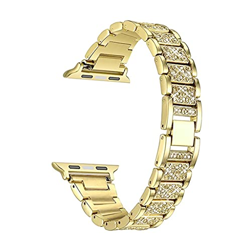 HGVVNM Watch Band 40mm 44mm 38mm 42mm Women Diamond Stainless Steel Strap Watch Bracelet (Color : Gold, Size : 40mm)