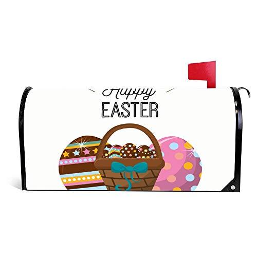 happygoluck1y Happy Ostern Kaninchen Eier Day Icon, Ostern Briefkasten-Abdeckung, magnetisch, Ostern Briefkasten-Wrap, Oster-Dekoration