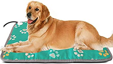 Outdoor Extra Large Pet Heating Pad Outside XL Electric Heating Mat for Large Dogs Cat Indoor Outdoor Pet Heated Bed Warmer Warming Mat for Medium Large Breed Pet Heat Pad Heated Dog House Heater Pad