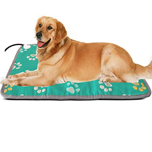 Outdoor Extra Large Pet Heating Pad Outside XL Electric Heating Mat for Large Dogs Cat Indoor Outdoor Pet Heated Bed Warmer Warming Whelping Mat Medium Pet Heat Pad Heated Blanket Dog House Heater Pad