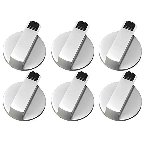 XINDAN 4pcs/6pcs Universal Control Replacement Cooking Cookware Parts Surface Control Lock Gas Stove Knob Oven Switch Stoves Cooker Knob(6pcs)