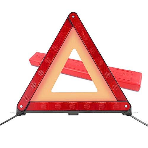 Riflettori triangolari di Avvertimento, Comoda Scatola per Il Trasporto,Chiaramente avvisa in Caso di guasto su Strada Pericolo di Emergenza - Standard Europei ECE R27