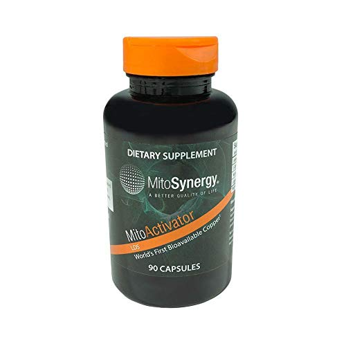 Mitosynergy - MitoActivator LDS - Highly Bioavailable Copper Mineral Supplement - Patented Nutrient Complex - 90 Capsules