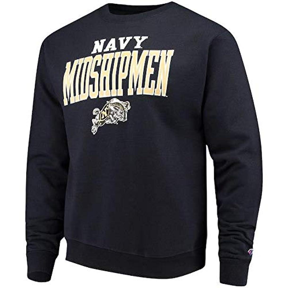 句読点充電冷蔵庫Champion Champion Navy Midshipmen Navy Core Powerblend Crewneck Sweatshirt スポーツ用品 【並行輸入品】
